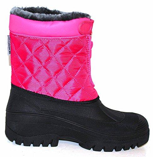 Neue Damen Reiten Yard Wasserdicht stabile Walking Regen Schnee Winter Ski Warm Farm Mucker Boots Rose