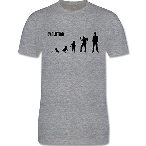 Evolution - Mann Evolution - Herren Premium T-Shirt Grau Meliert