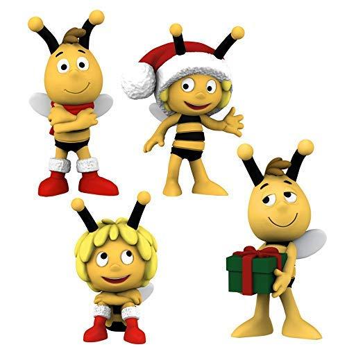 Schleich Auswahl Spiel-Figuren | Biene Maja | Maja und ihre Freunde 27006, Biene Maja Schleich:Weihnachts-Set