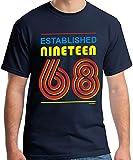 50 Geburtstag Mann Established Nineteen 68 (1968) T-Shirt