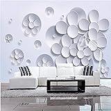 ZYYAKY Papier Peint Peinture Murale Art Moderne Papier Non Tissé 3D TV Contractée S'Asseoir Fleurs De Lotus Blanches Murale Grand Papier, 225 * 384Cm