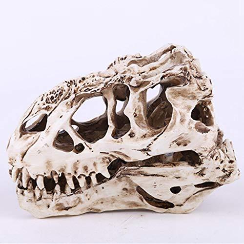 Xigeapg Harz-Handwerks-Dinosaurier-Zahn-Schaedel-fossiles unterrichtendes Skeleton Modell Halloween Home Office Halloween Dekoration