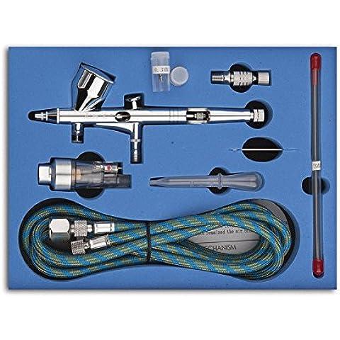 Witmoving doble acción aerógrafo Paiting herramientas aerógrafo de doble para tatuajes aerógrafo, Modelo, pintura (coche, bicicleta, etc.) para uñas diseño (Include a case)