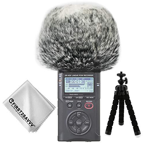 First2savvv Micrófono Externo Peludo Parabrisas Manguito Para Grabadores digitales para Tascam DR-40X DR 40 TM-DM-DR40X-01TZ3