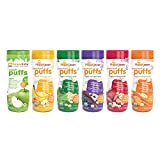 HAPPYBABY Organic Puffs Sampler (6 Count...