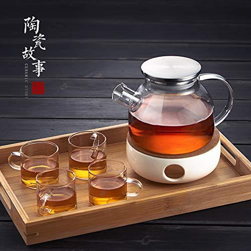 GBCJ Kochender Tee des kochenden Tees der Glasschale, Fruchtteetopf, Teesatzsatz, Heizungsbasis der Haushaltskerze