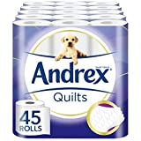 Andrex Quilts Toilet Roll Tissue Paper - 45 Rolls