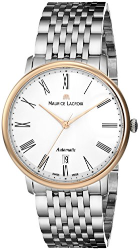 Maurice Lacroix Les Classiques Tradition Gents Watch, 18Kt Rose gold, White