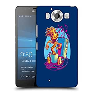 Snoogg Music Coffee Designer Protective Back Case Cover For NOKIA LUMIA 950