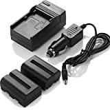 #10: DBK 2 Pcs Sony NP-FM500H Replacement Battery With Charger For Sony Alpha SLT-A57 SLT-A58 SLT-A65V SLT-A77V SLT-A99V SLT-A100 SLT-A200 SLT-A300 SLT-A350 SLT-A450 SLT-A500 SLT-A550 SLT-A560 SLT-A580 SLT-A700 SLT-A850 SLT-A900 DSLR Digital Camera(Free Car Charger Available)