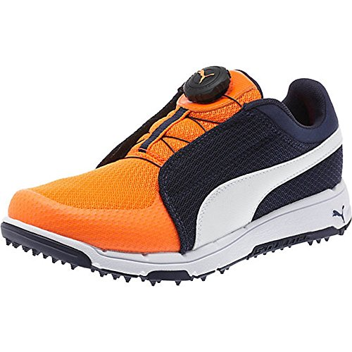 Puma Golf Grip Sport Junior Disc Golfschuhe Kinder dunkelblau weiß orange Größe 38