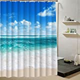 Best Amazon shower - Beach Water-resistant Fabric Shower Curtain Summer Pattern Personalize Review