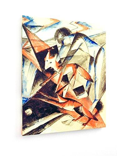 franz-marc-no-y-el-zorro-60x75-cm-weewado-impresiones-sobre-lienzo-muro-de-arte-antiguos-maestros