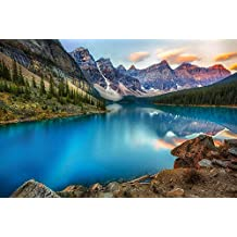 (Lake Mountains Forest Beautiful Nature Landscape)Print Posters Art Printed Canvas Posters 13x20inch