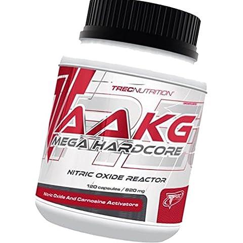 AAKG Mega Hardcore - Óxido Nítrico Reactor - Mega dosis de AAKG y malato de citrulina - Trec Nutrition (120caps / 240caps)