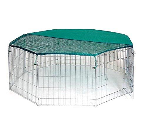 26477-recinto-ottagonale-da-esterno-per-animali-piccola-taglia-con-parasole-media-wave-store