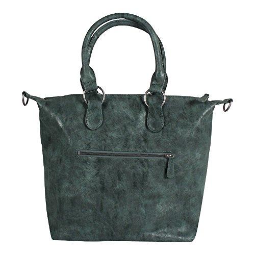Fritzi aus Preußen Leyla Vintage Shopper Tasche 42 cm Grün