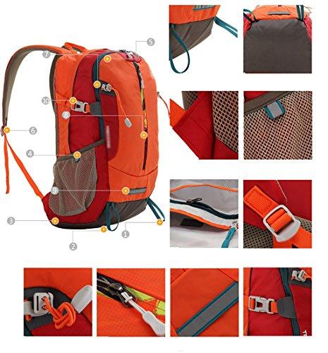 zaino trekking Outdoor Backpack Sport Alpinismo Bag Spalla Uomini borsa e Donne Sport Leisure Travel Escursionismo Borsa 30L Zaini da escursionismo ( Colore : C ) A