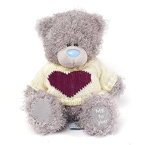 Me To You Plush Grey Tatty Teddy Bear Cream Chirstmas Heart Jumper