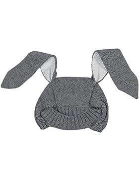 BOZEVON Bambino Unisex Moda Inverno Lavoro a Maglia Cappello di Lana Long-orecchie Coniglio Forma Berretto a Maglia...