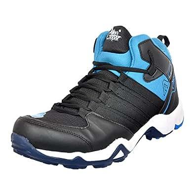 Allen Cooper ACSS-400 Men's Black and Blue Trekking & Hiking Shoes (7)