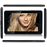 Haehne 9 Inch Android 4.4 Kitkat Google Tablet PC Capacitive TFT LCD Multi-Point Touch Screen ATM7021 Dual Core 8GB Dual Camera ARM Cortex-A7 HDMI WIFI Black