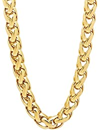 24 Carat Gold Rhodium and Gold Plated Brass Chain for Men AUGUST1411