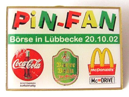 Fan Börse in Lübbecke 2002 - Mc Donald´s, Coca Cola & Barre Bräu - Pin 30 x 22 mm (Mcdonald Kostüm)