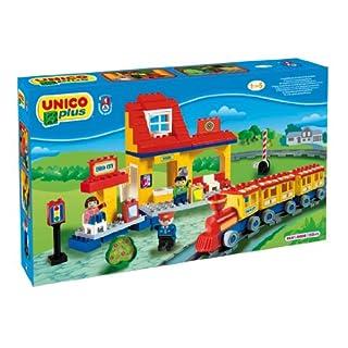 Unico 601041Bau + Bahnhofs 113teilig