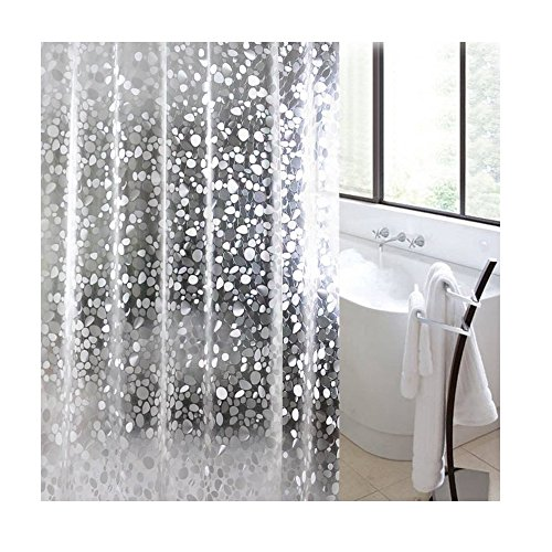 E-Retailer 0.15Mm Pvc Ac Transparent Printed Coin Design Curtain (Width-54Inches X Height-84Inches) 7 Feet.