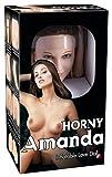You2Toys Horny Amanda Inflatable Love - lebensgroße Liebespuppe mit braunem Haar, Puppe zum Aufblasen inkl. Vibro-Ei, Gummipuppe für lebensechten Sex