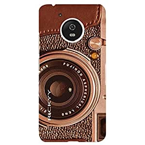 RICKYY Vintage Lens design printed matte finish back case cover for Motorola Moto G5