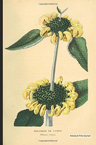 "Botanical Print Journal: phlomis samia, 6"" x 9"" Vintage Botanical Flower Print Journal - [Lined Journal]"