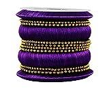 Kalyani Covering Violet Thread Metal Bangle Set for Women & Girls (2.8)
