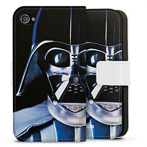 Apple iPhone 8 Hülle Case Handyhülle Star Wars Merchandise Fanartikel Lord Vader Sideflip Tasche weiß