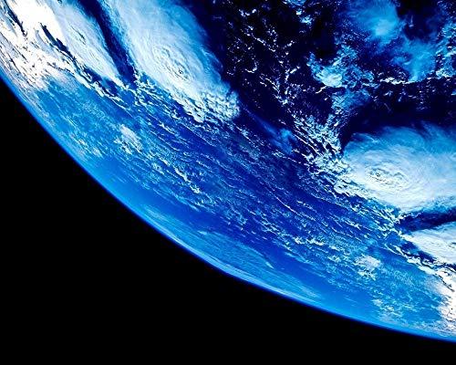 Mosaik Diamond Painting Kinder 5D Unser Blauer Planet Runder Bohrer Handwerk Hobbies Helfen Sie, Stress Abzubauen Und Sich Zu Entspannen Frameless 40X50Cm -