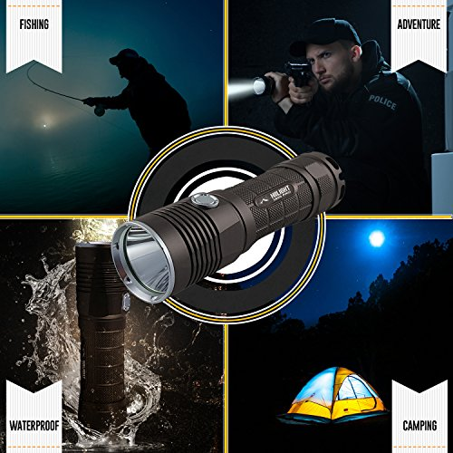 HIILIGHT LED Taschenlampe 3000 Pro - Taktische Outdoor XM-L2 Flashlight Mit Akku Set - 3