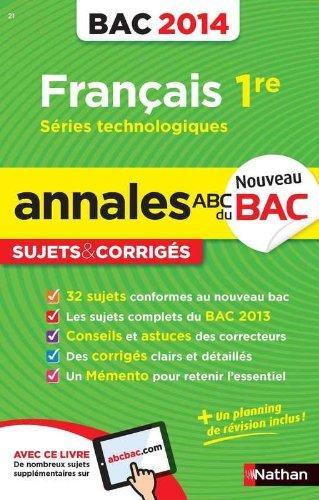 ANNALES BAC 2014 FRANCAIS 1ERE