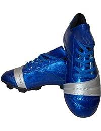 Aryans Synthetic PU Nitro Blue Football Shoes