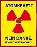 1art1 Atomkraft Poster Kunstdruck und Kunststoff-Rahmen -