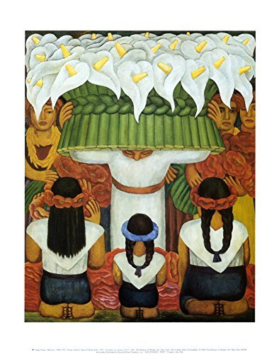 Flower Festival: Feast of Santa Anita, 1931 Art Poster Print by Diego Rivera, 11x14 Fine Art Poster Print by Diego Rivera, 11x14 by Poster Discount -