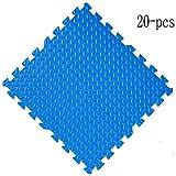 WHAIYAO-puzzlematte baby WHAIYAO Puzzlematte Kind Klettermatte Nahtloses Nähen Indoor Fallschutz Wasserdicht rutschfest Schützen Sie Den Boden, 7 Farben (Color : Blue, Size : 20-pcs)