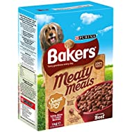 Bakers Meaty Meals Small Dog Food Beef, 1 kg - Pack of 4