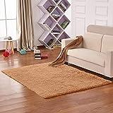 Teppiche Für Wohnzimmer, Dicker Teppich Lange Pelz Bodenmatte Esszimmer Oder Gästezimmer In Shaggy Unicolor,7,0.4Cmx0.6Cm
