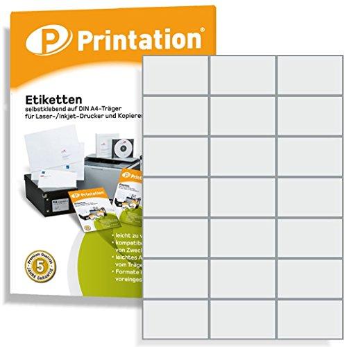 Universal Etiketten 70 x 42,4 mm selbstklebend weiß - 2100 Labels auf 100 DIN A4 Bogen 3x7 70x42,4 - 4470 3652