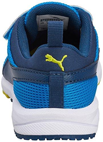 Puma Carson Runner V Kids, Baskets Basses mixte enfant Bleu - Blau (poseidon-poseidon-cloisonné 13)