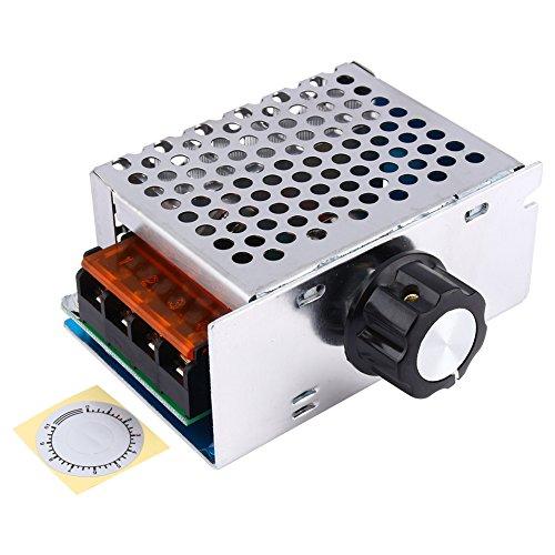 AC 4000W 220V High Power SCR Verstellbare Variable Speed Controller Motor Elektronische Spannung Dimmen Aushärtung Power Regulator Module Schalter mit Schutzhülle