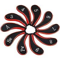 pushfocourag Funda de Neopreno para Palos de Golf DE 10 Piezas, de la Marca, Rojo