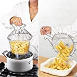 51aJDK8uJ3L. SL160  - BEST BUY #1 VWH Kitchen Foldable Strain Fry Frying Basket Strainer Washable Gadgets Reviews and price compare uk