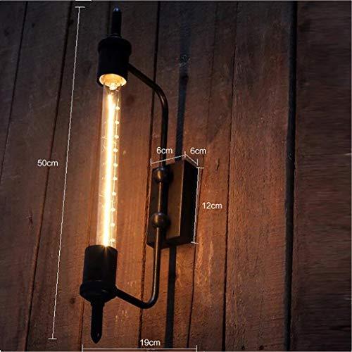 ngende Wand-Industriestil der Lampe Dekorative Rohr-Wandlampe in Glas-Wandlampe von Iron Country Bekleidungsgeschäft Cafe Restaurant Bar Wandleuchte Dekoration,Zwei geladen ()